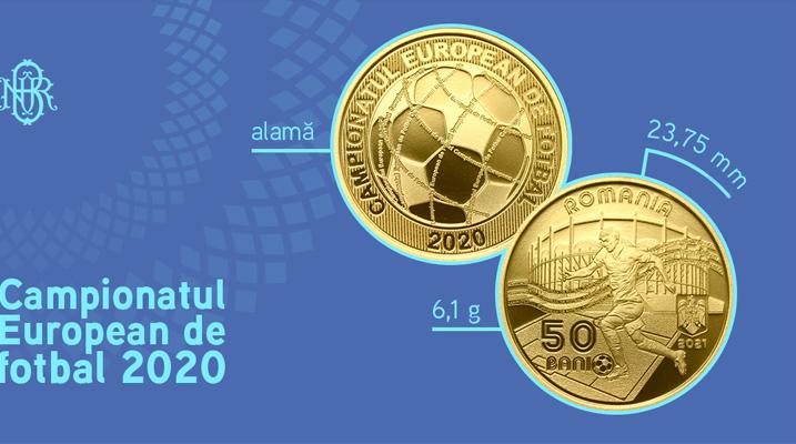 Banca Nationala a Romaniei dedica o moneda Campionatului European de Fotbal 2020