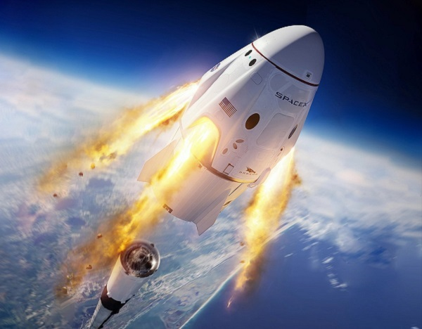 Capsula reutilizabila Crew Dragon construita de Elon Musk va deschide o noua era in epopeea calatoriilor spatiale