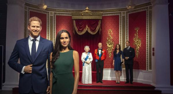Lucrarile de ceara Meghan si Harry au fost scoase de la expozitia Familiei Regale de la Madame Tussauds