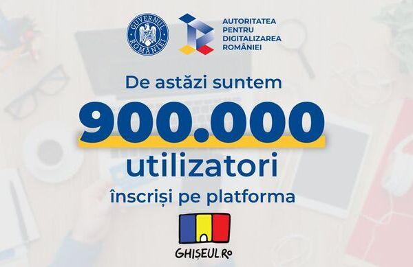 Nou record pentru Ghiseul.ro: 900.000 de utilizatori s-au inscris in platforma, iar platile au trecut de 153 de milioane de lei