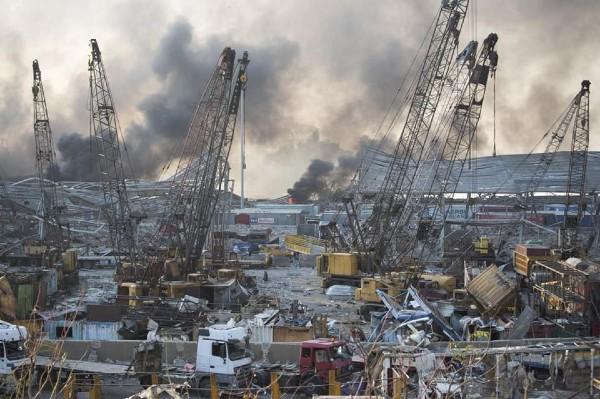 Primele imagini de la explozia devastatoare din Beirut, capitala Libanului: 73 de morti si peste 4.000 de raniti