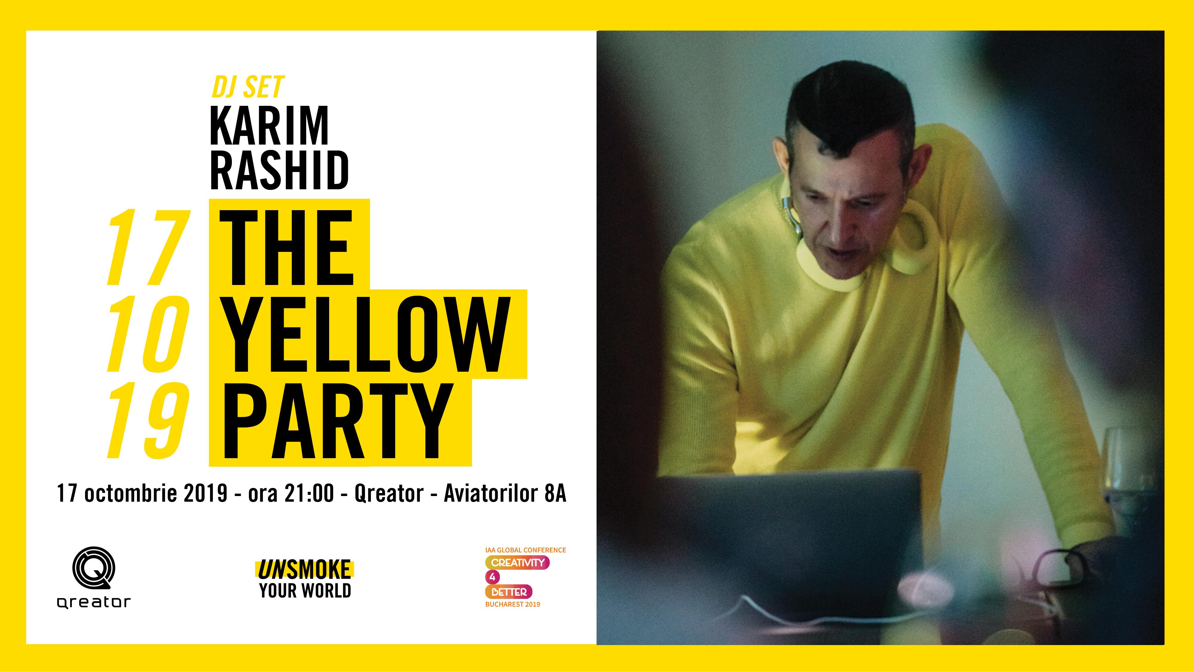"Karim Rashid pune muzica la party-ul Conferintei Globale ""Creativity4Better"" - toti participantii invitati"