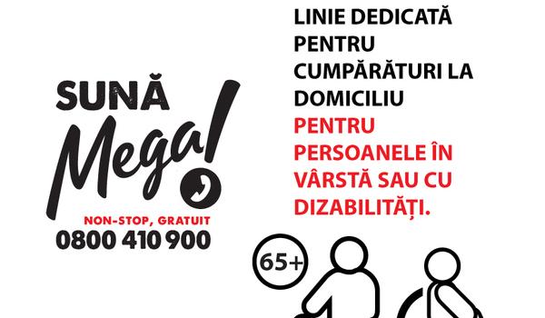 Mega Image faciliteaza cumparaturile livrate gratuit la domiciliu pentru varstnici printr-o linie telefonica dedicata