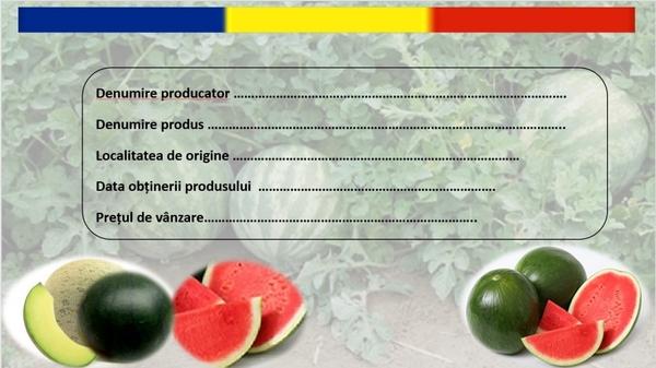 Etichete speciale pentru pepenii romanesti din pietele agroalimentare