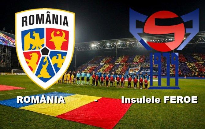 Romania invinge Insulele Feroe cu 3 - 0 dupa un meci chinuit