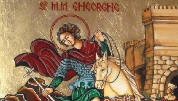 Cati romani isi sarbatoresc astazi onomastica si de ce e cunoscut Sfantul Gheorghe ca fiind purtatorul de biruinta