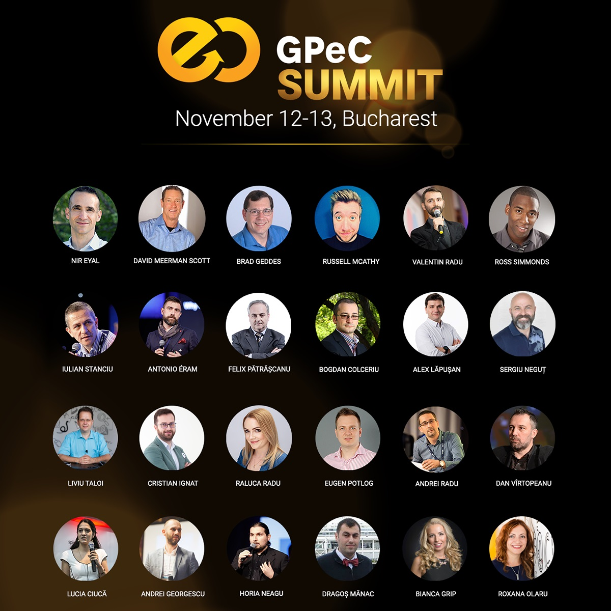 25+ Speakeri Exceptionali urca pe scena GPeC SUMMIT 12-13 noiembrie 2018