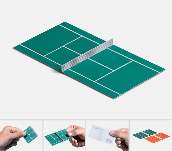 Carte de vizita antrenor de tenis sau tematica tenis