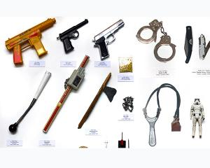Expozitie de obiecte confiscate in scoli londoneze