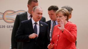 Intalnirea Putin - Merkel: vorba lunga, niciun progres