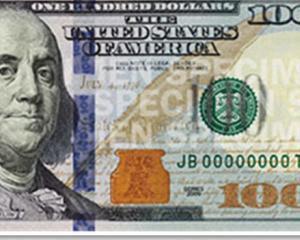 Bancnota de 100 de dolari se schimba la fata