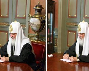 Biserica Ortodoxa Rusa isi cere scuze pentru ca a photoshopat ceasul patriarhului