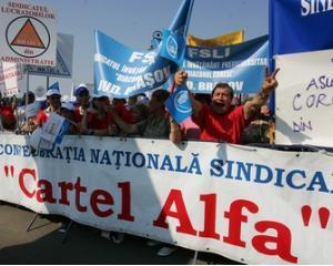 BNS si Cartel Alfa protesteaza fata de masurile de austeritate