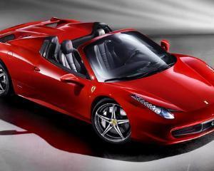 Ferrari 458 Italia Spider a ajuns si in Romania. Costa peste 230.000 de euro, iar stocul a fost epuizat