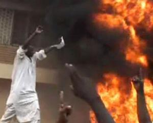 Ambasada Germaniei din Sudan, incendiata