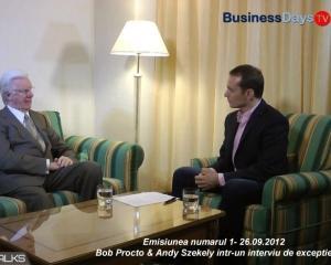 BUSINESS DAYS TV: Episodul 1-Bob Proctor & Andy Szekely