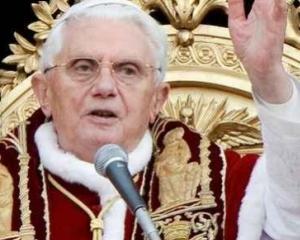 Papa Benedict: Casatoriile intre persoane de acelasi sex ameninta