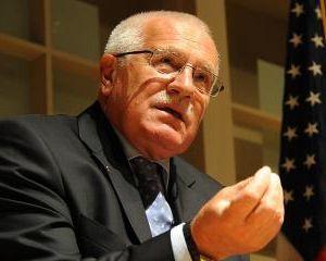 Vaclav Klaus se opune federalizarii Europei