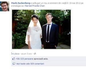 La o zi dupa oferta publica initiala a Facebook, Mark Zuckerberg s-a insurat!
