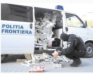 Tigari de contrabanda in valoare de 160.000 de lei, confiscate la granita cu Ucraina