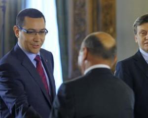 Victor Ponta vorbeste cu Traian Basescu la telefon