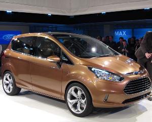 Ford vrea sa rupa gura targului cu B-Max: motor de 1 litru, consum de 4 l/100 km