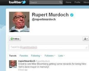 Murdoch via Twitter: Cred ca britanicii au prea multe vacante, pentru un popor falimentar!