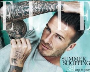 David Beckham, primul barbat de pe coperta revistei ELLE