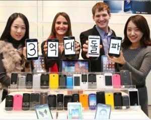 Samsung a vandut, pentru prima data in istoria sa, peste 300 milioane de telefoane mobile intr-un an