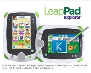 LeapPad, prima tableta pentru copii