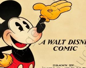 Un afis cu Mickey Mouse din 1928 a fost vandut cu suma de 77.000 euro
