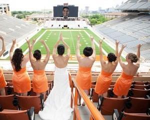Paine, circ si nunta pe stadion