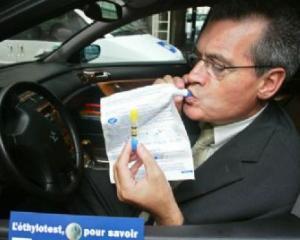 Etilotestul, obligatoriu in orice masina din Franta