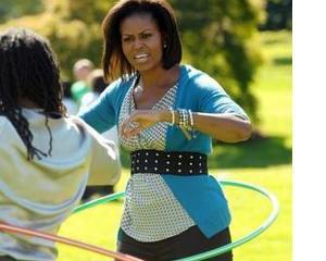 Michelle Obama lupta impotriva obezitatii in cadrul Jocurilor Olimpice
