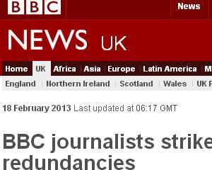 Ziaristii de la BBC au intrat in greva pentru 24 de ore