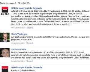 BRD, chat pe Facebook cu utilizatorii interesati de programul Prima Casa