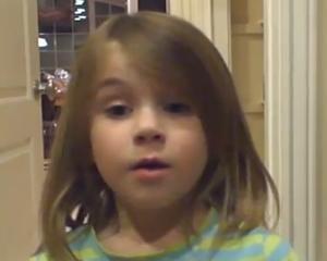 Noua senzatie de pe YouTube: Aceasta fetita de 5 ani nu se va marita pana nu are o cariera!