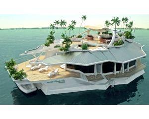 Cum arata insula plutitoare artificiala de 6 milioane de dolari