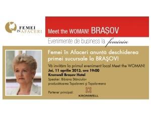 Femei in Afaceri BRASOV: prima sucursala a organizatiei!