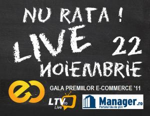 Gala Premiilor eCommerce transmisa pe Manager.ro