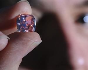 Un diamant Martian Roz va fi vandut in cadrul unei licitatii la Hong Kong. Pretul de pornire: 8 milioane dolari