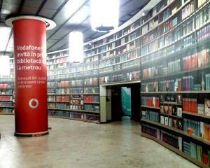 Vodafone a lansat o biblioteca digitala, la metrou