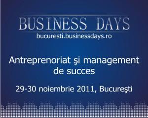S-au deschis inscrierile la Bucuresti Business Days!