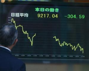 S-a cutremurat si bursa japoneza