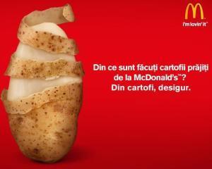 McDonald's, sanctionata de ANPC pentru publicitate mincinoasa