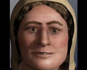 Cercetatorii au reusit sa reconstituie chipul unei femei vikinge