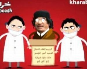 Revoltele arabe transpuse in desene animate: In Iordania au aparut parodii animate despre Gadhafi si Mubarak