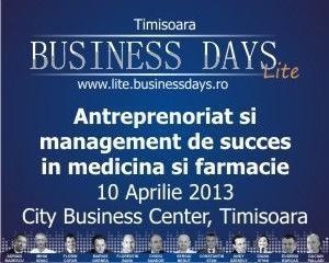 Business Days Lite: Antreprenoriat si management de succes in domeniul sanatatii