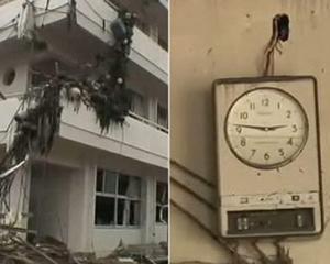 CUTREMUR JAPONIA 2011: Timpul s-a oprit la ora seismului. In mijlocul dezastrului, japonezii raman calmi