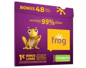 Cosmote: Cartela Frog aduce de trei ori mai multe beneficii